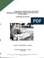 Fertilizacion Organica y Manejo Del Suelo en El Sistema de Produccion Tabaco Asociado Frijol en Santander