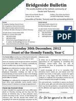 2012-12-30 - Holy Family Year C