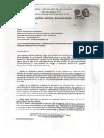 Carta de CUT a Comisión Interamericana de Derechos Humanos