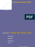 Asignatura - Bases de Datos (Bd)