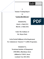 project report on garden silk mills limited