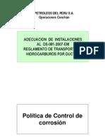 Politica de Control de Corrosión