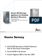Oracle ZFS Storage Appliance for Exadata Backup Recovery