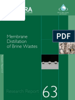 Membrane Distillation of Brine Wastes