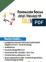 PRESENTACIÓN FUNDACIÓN SOCIAL JÓVENES TRABAJANDO POR COLOMBIA