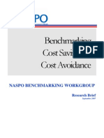 Benchmarking Cost Savings and Cost Avoidance