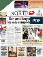 Periodico Norte de Ciudad Juárez 28 de Diciembre de 2012