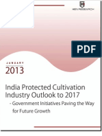 India Protected Cultivation Industry Outlook to 2016 - Government Initiatives Paving the Way for Future Growth