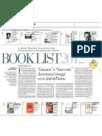 I Migliori Libri Usciti in Italia Nel 2012 Secondo La Repubblica - La Repubblica 28.12.2012