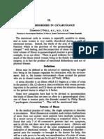 stress diorder in gyanceology