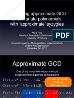 Calculating approximate GCD of univariate polynomials with 'approximate' syzygies