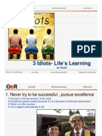 Lessons From 3 Idiot Movie