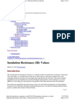 Insulation Resistance Notes