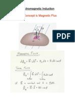 Key concept in Magnetic Flux