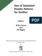 XRD Standard Patterns of Zeolite
