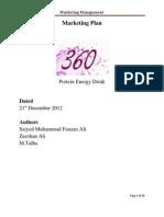 Marketing Plan (Sample) - 360 Energy Drink