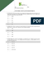 Exercícios de Associação de Resistores 01