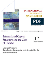 international capital structure and cost of capital