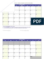 Calendário Word 2013