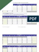 Calendário Word Pequeno 2013