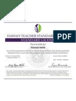 teaching license