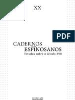Cadernos Espinosa - 20