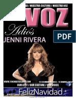 La Voz, December, 2012 Edition