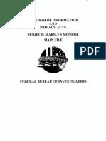 FBI Documents on Marilyn Monroe