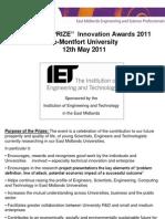 Masters Prize 2011 Criteria