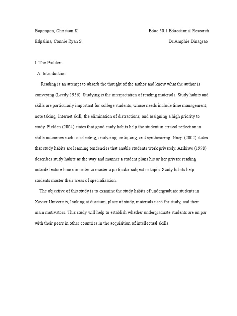 Example Of A Research Paper | Study Skills | Learning