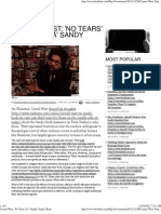 Cornel West 'No Tears' for 'Vanilla' Sandy Hook