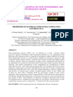 Properties of Materials Used in Self Compacting Concrete (Scc)