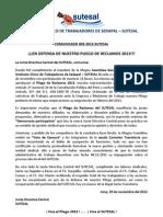 Comunicado Nº 003-2-2012 SUTESAL