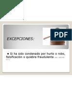 Excepciones -Obligar aceptar cesión bienes