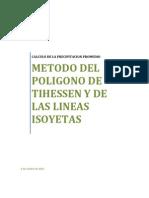 Informe III (Metodo Del Poligono de Thiessen - Metodo de Las Lineas Isoyetas)