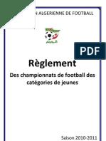 Reglements Championnats Football Jeune