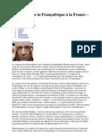 Hollande De la Françafrique à la France – Afrique