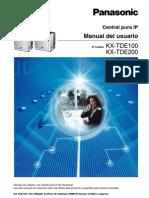 Kx-tde100 Manual de usuario