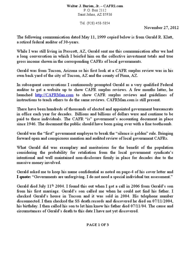comprehensive annual financial report gasb