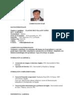 CURRICULUM CLAUDIO RUZ VILLANE YÁÑEZ CHILE
