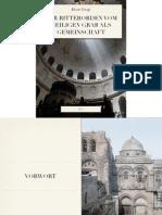 Der Ritterorden vom Heiligen Grab als Gemeinschaft, zweite Auflage