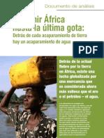 Exprimir África hasta la última gota: Detrás de cada acaparamiento de tierra hay un acaparamiento de agua