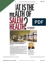 Salem Health Finances Jump