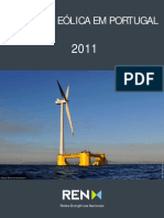 A energia Eólica em Portugal - dados REN 2011
