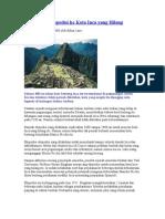 Fenonema Ekspedisi Ke Kota Inca Yang Hilang