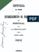 História da origem e do estabelecimento da Inquisição em Portugal, vol. 3