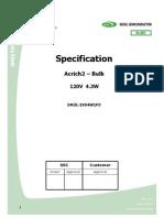 Especificações SMJE-2V04W1P3 led alta potencia