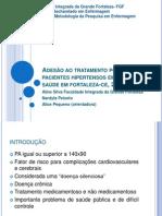 Adesão ao tratamento por pacientes hipertensos em unidade