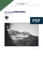 Oregon 2013-15 TAX EXPENDITURE REPORT