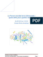 Forum mondial de la démocratie, Strasbourg 2012, Youth Diplomacy